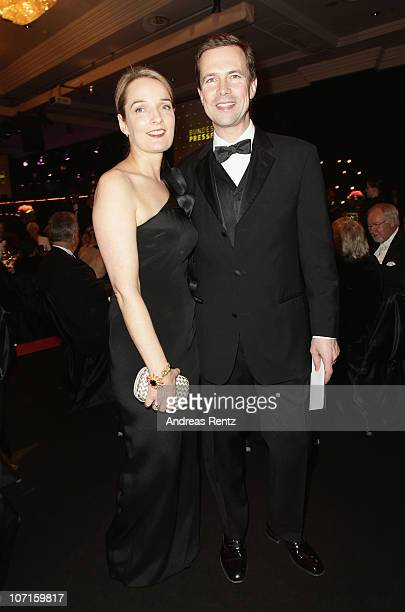 German Government Spokesman Steffen Seibert and partner Sophia Gundelach attend the annual press ball 'Bundespresseball' at Hotel Intercontinental on...
