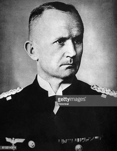 German Grand Admiral Karl Doenitz who was the last Fuhrer of Nazi Germany taking power after Hitler committed suicide He surrendered to the Allied...