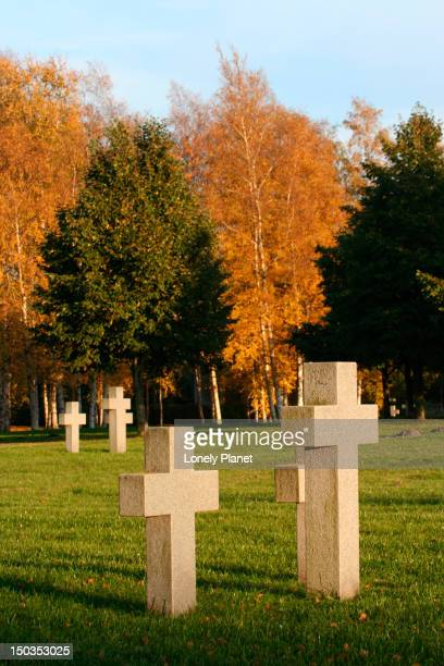 german graves near soviet war monument. - harjumaa stock pictures, royalty-free photos & images
