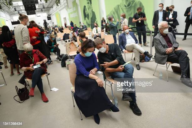 German Greens Party chancellor candidate Annalena Baerbock and co- party leader Robert Habeck attend a Greens Party congress ahead of federal...