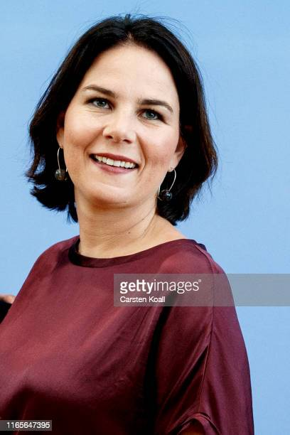 German Greens Party co-leader Annalena Baerbock attends a press conference the day after elections in the eastern German states of Brandenburg and...
