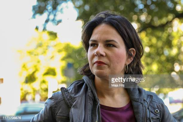 German Greens Party leader Annalena Baerbock speaks to the media the day after elections in the eastern German states of Brandenburg and Saxony on...