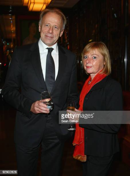 German Greens Party politician Juergen Trittin and Angelika Bueter attend the MTV Europe Music Awards Free Your Mind Award Presentation at the Cinema...