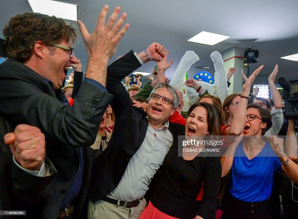 GERMANY-EU-POLITICS-VOTE-PARTIES-GREENS : News Photo