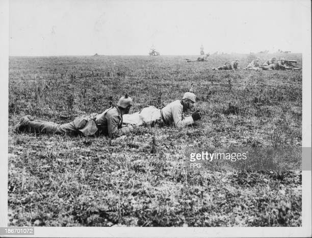 German gunners carrying out offensive maneuvers in Poland during World War One circa 19141918