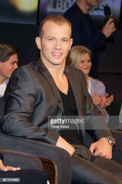 German gymnast champion Fabian Hambuechen during the TV Show 'Tietjen und Bommes' on October 27 2017 in Hanover Germany
