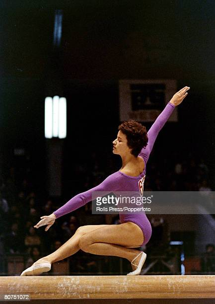 Sport Gymnastics 1964 Olympic Games in Tokyo Ute Starke Germany in the beam event