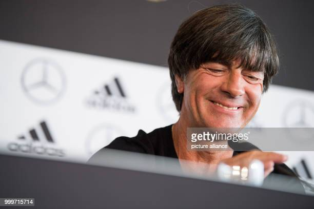 German head coach Joachim Loew during a press conference regarding the world cup qualification at the Mercedes Benz Museum in Stuttgart, Germany, 3...