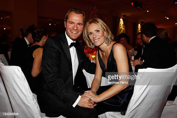 German Health Minister Daniel Bahr and wife Judy Witten attend the Bundespresseball at Hotel Intercontinental on November 25 2011 in Berlin Germany
