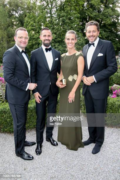 German Health Minister Jens Spahn and his husband Daniel Funke Austrian politician Harald Mahrer and his wife Andrea Mahrer during the ISA gala at...