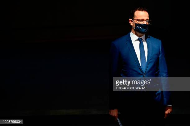 German Health Minister Jens Spahn arrives to attend a session at the Bundestag the German lower house of parliament in Berlin on September 30 2020
