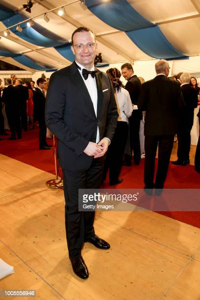 German Health Minister Jens Spahn attends the Bayreuth Festival 2018 state reception at Neues Schloss on July 25 2018 in Bayreuth Germany