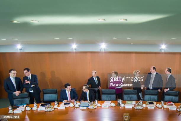 German Health Minister Jens Spahn German Development Minister Gerd Mueller German Minister of Work and Social Issues Hubertus Heil German Foreign...