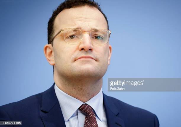 German Health Minister Jens Spahn is pictured during a press conference to present a Introduction to the proposed law for organ donation - double...