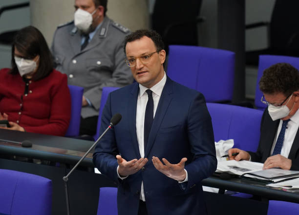 DEU: Health Minister Spahn In Bundestag Question And Answer Session