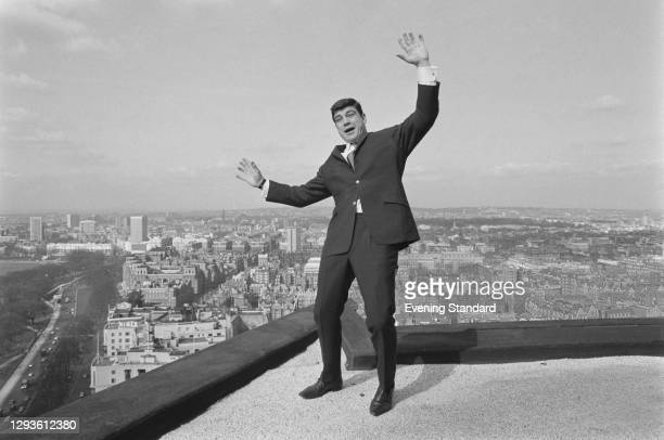 German heavyweight boxer Karl Mildenberger on a rooftop near Hyde Park in London, UK, 16th March 1967.