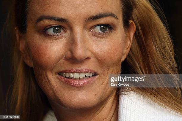 German heiress Katrin Radmacher arrives at the Supreme Court today for an appeal hearing brought by her French exhusband Nicolas Granatino after his...