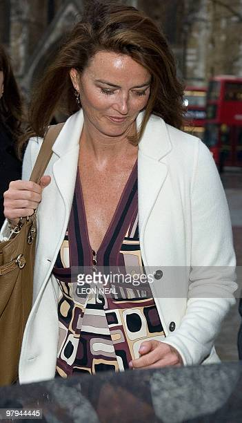German heiress Katrin Radmacher leaves the Supreme Court in central London on March 22 2010 A university researcher faces financial ruin if his...