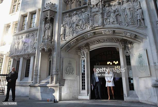 German heiress Katrin Radmacher leaves the Supreme Court today after an appeal hearing brought by her French exhusband Nicolas Granatino after his...