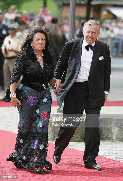 German highsociety figure Regine Sixt and her husband Erich head of the Sixt car rental agency arrive for the opening performance of Richard Wagner's...