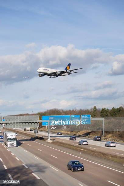 German highway A5, Frankfurter Kreuz and airport