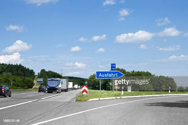 German highway, road sign - Ausfahrt/Exit