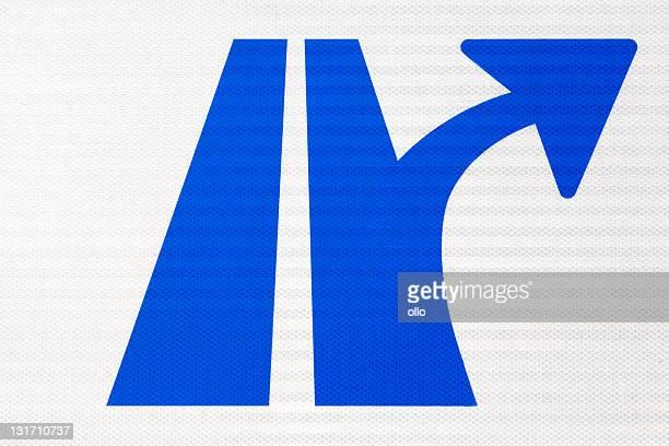 German Autobahn traffic sign-Detailansicht