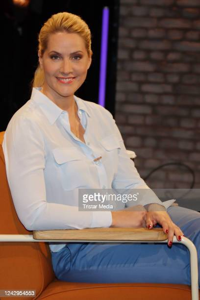 German host and news anchor Judith Rakers at the Radio Bremen talkshow 3nach9 TALK am Dinestag during the Coronavirus crisis on June 2 2020 in Bremen...
