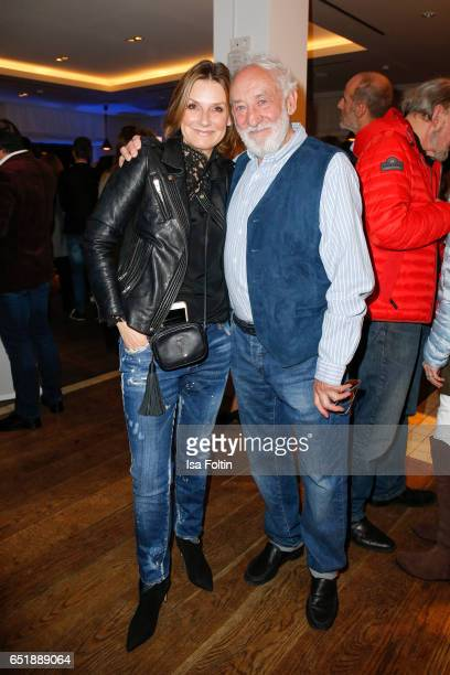 German host and singer Kim Fischer and german actor and comedian Dieter Hallervorden attend the 'Baltic Lights' charity event on March 10, 2017 in...