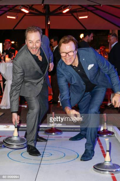German host Wolfgang Lippert and german actor Till Demtroeder attend the 'Baltic Lights' charity event on March 10, 2017 in Heringsdorf, Germany....