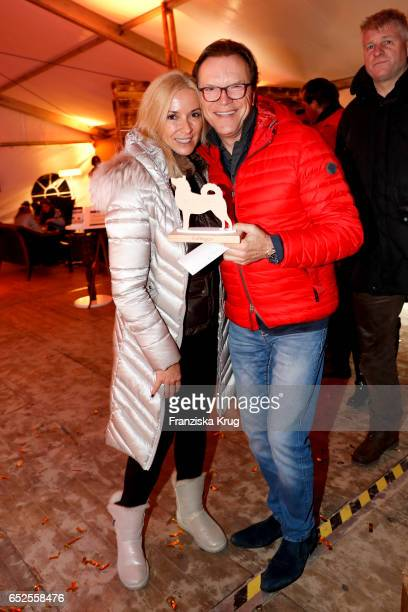German host Wolfgang Lippert and his wife Gesine Lippert attend the 'Baltic Lights' charity event on March 11, 2017 in Heringsdorf, Germany. Every...