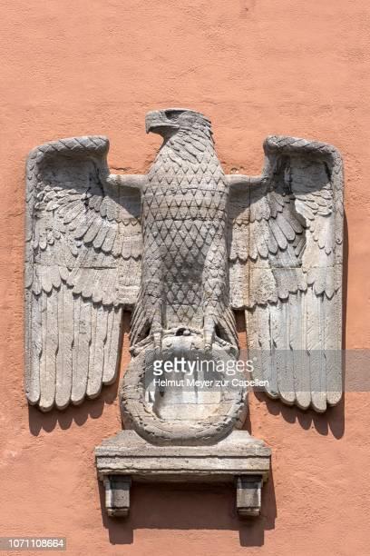 german imperial eagle on facade, oberfinanzpraesidium, munich, bavaria, germany - nazi germany stock pictures, royalty-free photos & images
