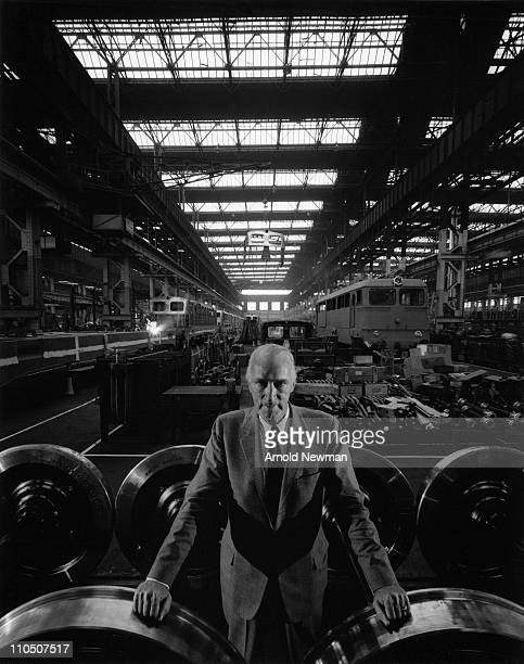German industrialist Alfried Krupp von Bohlen und Halbach at a factory in Essen, Germany, 1963.