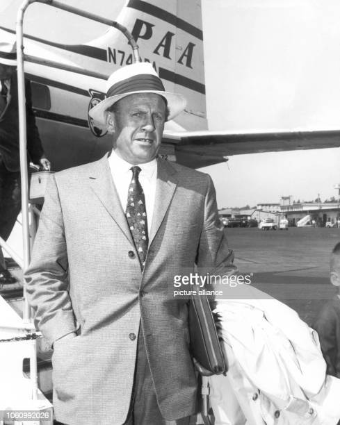 German industrialist Oskar Schindler arrives in Frankfurt am Main on the 4th of July in 1957 Schindler saved the lives of thousand of Jews in World...