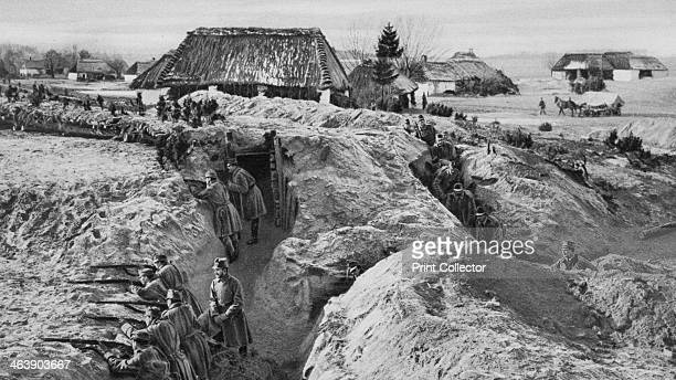 German infantry in trenches at Jasionna Poland World War I 1915 A photograph from Der Grosse Krieg in Bildern