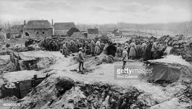 German infantry shelters World War I 1915 A photograph from Der Grosse Krieg in Bildern