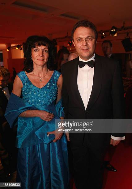 German Interior Minister HansPeter Friedrich arrives with his wife Annette Friedrich at the 2012 Sports Gala 'Ball des Sports' at the RheinMain Hall...