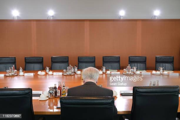 German Interior Minister Horst Seehofer arrives for the weekly government cabinet meeting on May 29, 2019 in Berlin, Germany. The current government...