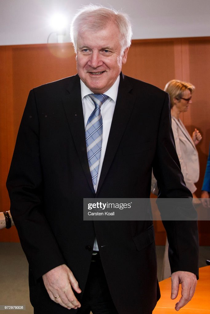 German Interior Minister Horst Seehofer arrives for the weekly government cabinet meeting on June 13, 2018 in Berlin, Germany. High on the morning's agenda is labour legislation intended to ease workers' transition from part-time to full-time work.
