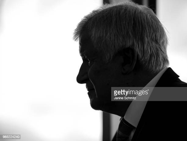 German Interior Minister Horst Seehofer during a conversation before the Weekly Government Cabinet Meeting on June 27 2018 in Berlin Germany