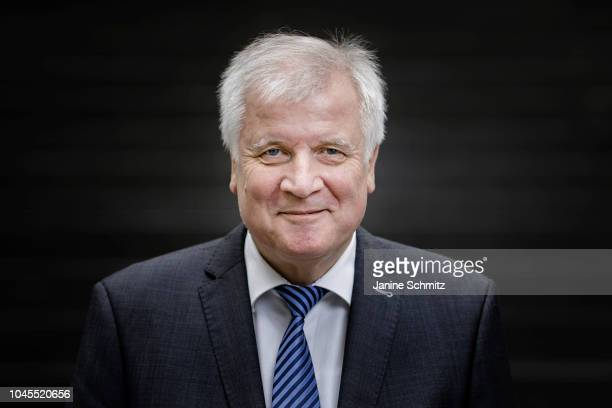 German Interior Minister Horst Seehofer poses for a portrait on October 02 2018 in Berlin Germany
