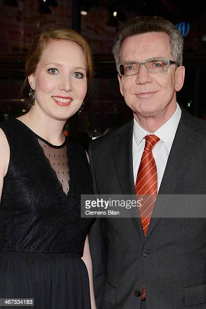 German interior minister Thomas de Maiziere and his daughter Nora attend 'The Grand Budapest Hotel' Premiere and opening ceremony during the 64th...