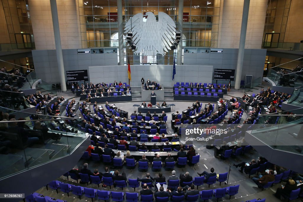 Bundestag Debates Refugees' Rights To Bring Their Families To Germany : News Photo