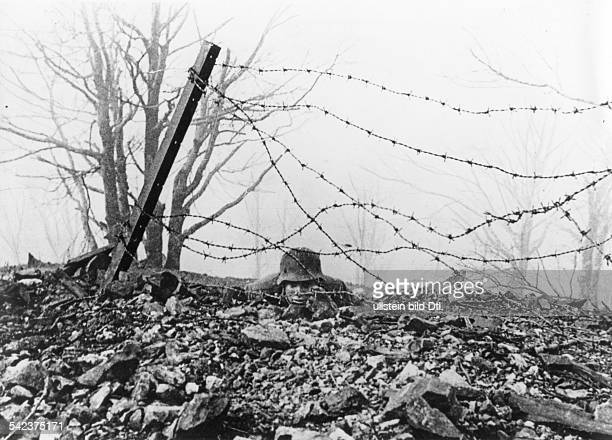 German invasion of Greece from Bulgaria: an advanced Gebirgsjäger post on the Metaxas Line