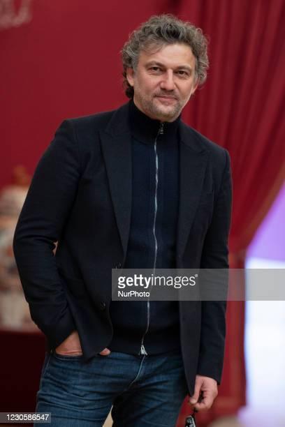 German Jonas Kaufmann poses at the Teatro Real in Madrid, on January 14, 2021.Spain