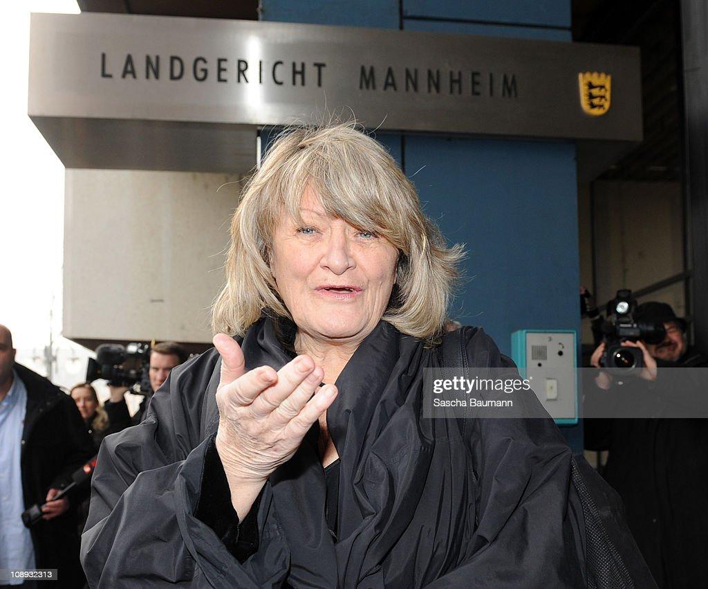 Alice Schwarzer Hearing In Kachelmann Trial : News Photo