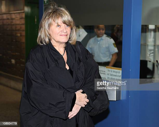 German journalist Alice Schwarzer arrives on day 27 of the trial against TV host and weather expert Joerg Kachelmann at the district court Mannheim...