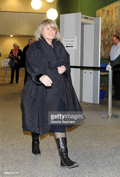 German journalist Alice Schwarzer leaves the court on day 27 of the trial against tv host and weather expert Joerg Kachelmann at the district court...