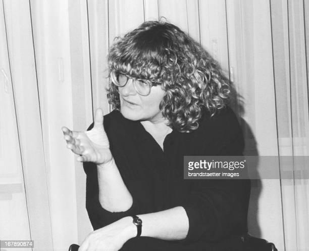 German journalist and feminist Alice Schwarzer Vienna 1986 Photograph by Nora Schuster Die deutsche Journalistin und Feministin Alice Schwarzer Wien...