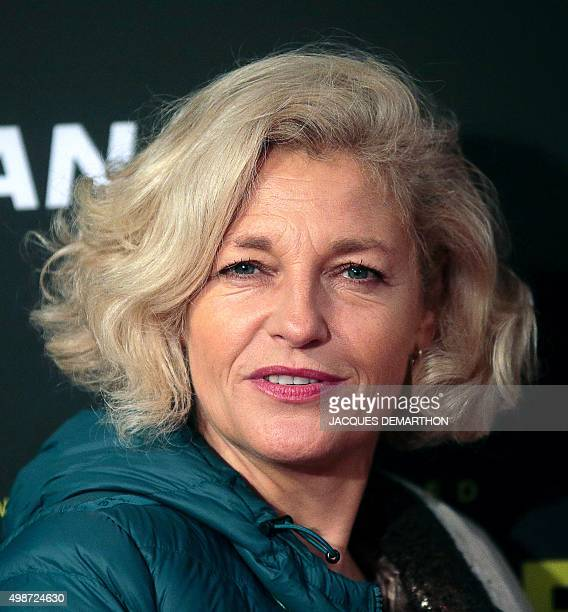 German journalist and TV Annette Gerlach poses during a photocall for the premiere of the documentary on French choreographer and head of the Paris...